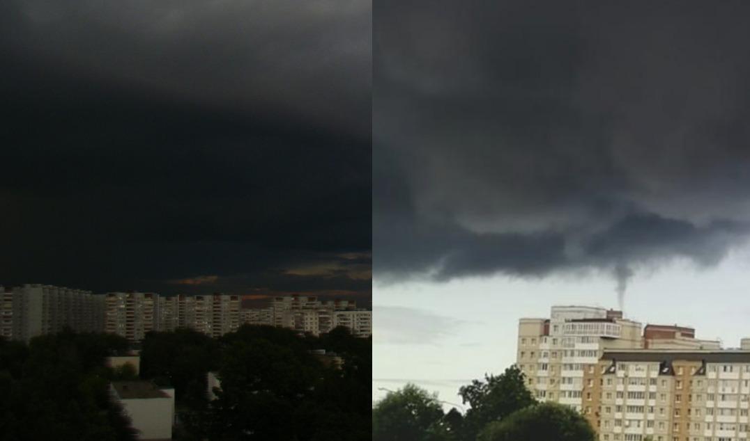 Київ 15 хвилин назад накрив скажений вітер зі зливою: жителі показали відео раптової бурі